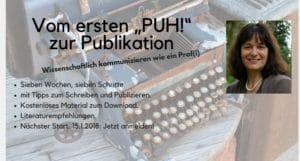 """Vom ersten """"PUH!"""" zur Publikation 2018 0^1"""
