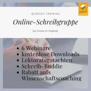 Online-Schreibgruppe die Vorteile