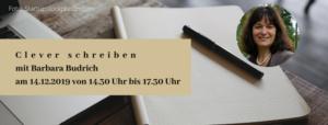 Clever schreiben - Wissenschaftstexte und Sachbücher. Der Online Schreibworkshop mit Barbara Budrich