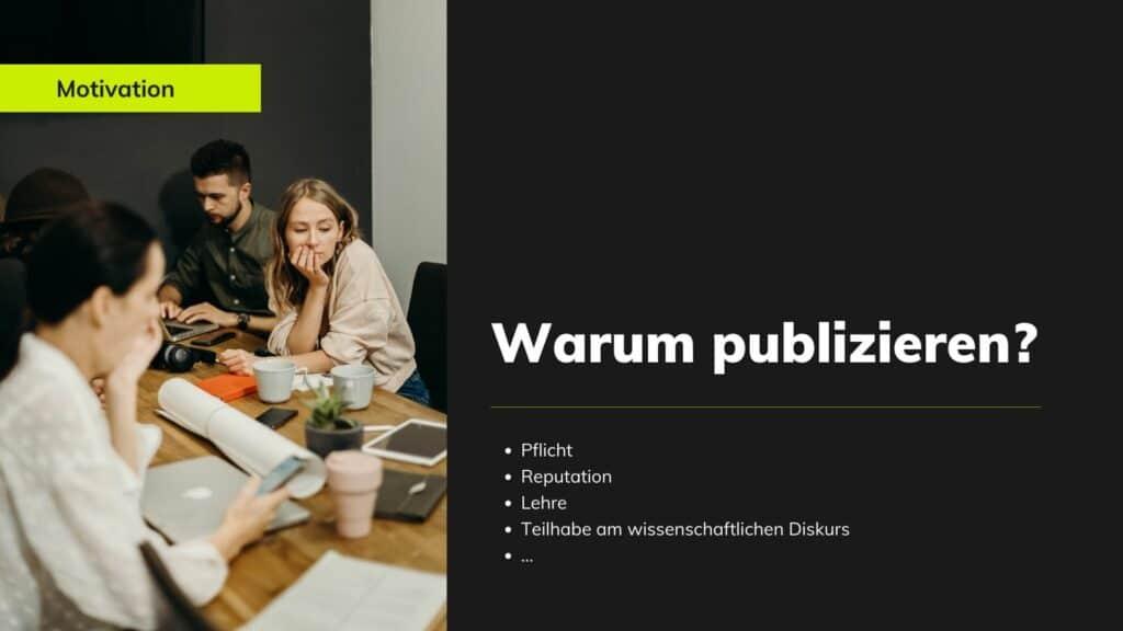 Warum publizieren